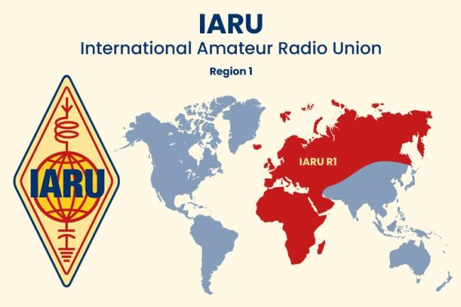 IARU Band plan, CQ Zone, ITU Zone - 1